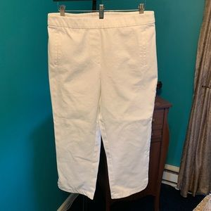 Isaac Mizrahi white Capri pants-size 12